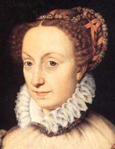 """Francois Clouet, """"Jeanne d'Albret"""", 16th century. This is an example of a similar style found in France. The texture of the ribbon can actua..."""