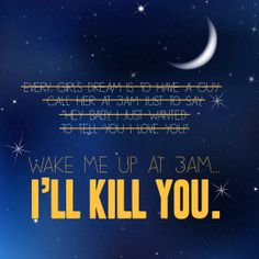 Wake me up at 3AM and I'll kill you via Flair.be (www.flair.be/onthego)