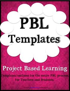 Full PBL Editable templates for teachers to use for any grade. These templates are user friendly and give a structure for a PBL plan from the beginning stages of the process to the end. Table of Contents:* PBL Outline/Description template-  Initial planning page to include driving question, standards
