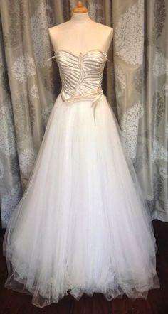 "Fairytale David Fielden ""8024"" Wedding Dresson sale at Gillian Million, #london. Only £1595 #preloved #weddingdress #davidfielden #wedding #bride #bridetobe"