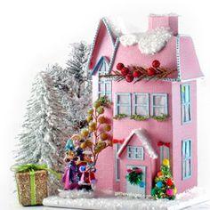 Christmas Village House Robin