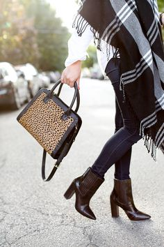 plaid and leopard and booties - oh my!