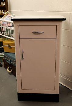 Vintage 1950s Porcelain Enamel Top Metal Kitchen Shop Cabinet Work ...