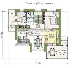 План 1 (зеркальный) Villa, Floor Plans, House Design, Flooring, How To Plan, Architecture, Wood Flooring, Architecture Illustrations, Architecture Illustrations