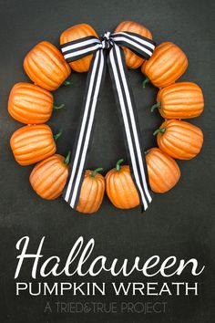 How to make a wreath for Halloween with dollar store foam pumpkins