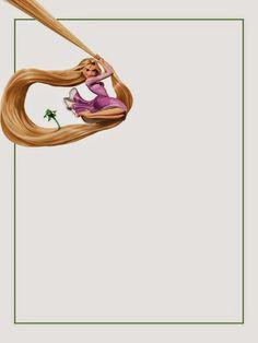Cuaderno de Rapunzel para Imprimir Gratis.