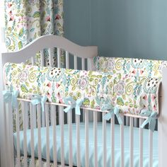 Love Birds Crib Rail Cover