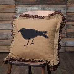 primitive crow pillow | fall pillow | fall decor | harvest
