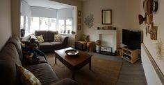 Ochre and soft brown livingroom