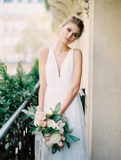 Photography : Katie Stoops Photography | Wedding Dress : Cecilia By Saint Isabel Bridal (white) Read More on SMP: http://www.stylemepretty.com/2016/02/05/luxurious-parisian-wedding-inspiration/