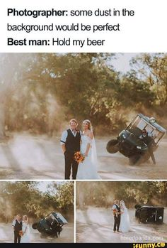 Funny-Wedding-Memes 30 Hilarious Memes That Perfectly Sum Up Every Wedding<br> If everyone took their duties as responsibly as a best man does, the economy would reach its peak before that one uncle gets wasted. Really Funny, Funny Cute, The Funny, The Beast, 9gag Funny, Meme Comics, Stupid Funny Memes, Funny Relatable Memes, Funny Stuff
