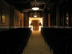 A beautifully lit, traditional style Chuppah!