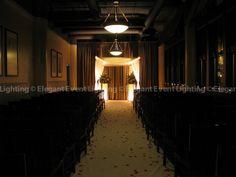 A beautifully lit, traditional style Chuppah!