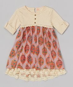 Look at this Tuberose Floral Field Dress - Toddler