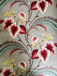 Amazing Flowers and Foliage Vintage Barkcloth/ / Mid by KimberlyZ