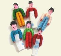 Anybody else make Worry Dolls from toothpicks? I used to make these-long time ago.  This tutorial shows you how.