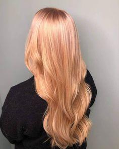 Peach Hair Colors, Hair Colours, Hair Color Shades, Hair Color And Cut, Pastel Hair, Pink Hair, Red Hair Inspo, Blond Bob, Gorgeous Hair Color