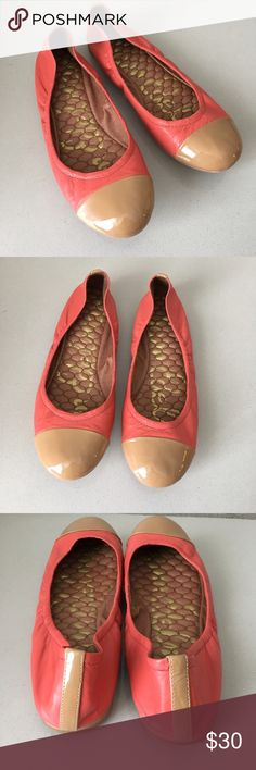 Sam Edelman Baxton 2 Ballet Flat in Flamingo Tan EUC - Step out in style with these sassy Sam Edelman flats on your feet! Easy slip on wear with elasticized collar.  Leather with Leather lining. Lightly cushioned leather foootbed. Man made sole. Sam Edelman Shoes Flats & Loafers