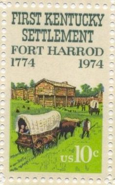 First Kentucky Settlement 1974 Vintage USPS by lock of 10 Issue Date: June 15, 1974 City: Harrodsburg, Kentucky