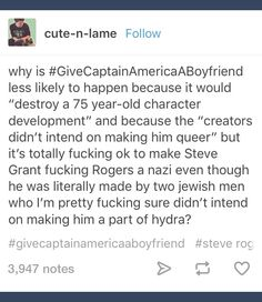 Yeah, the fuck marvel? Steven Grant Rogers, Steve Rogers, Marvel Films, Marvel Avengers, Comic Movies, Comic Books, Captain American, Bucky And Steve, Stucky