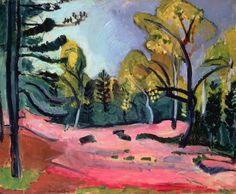 Matisse, Henri (1869-1954) Forest of Fontainebleau, 1909 (oil on canvas)