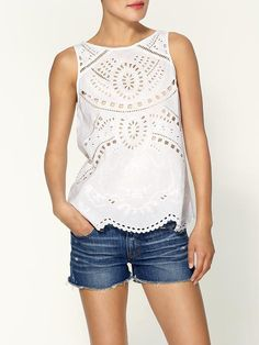 @Piperlime® Eyelet Patterned Tank. http://zodiacfashion.blogspot.com/