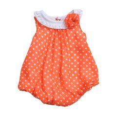 Baby Essentials Newborn Infant Girl Polka Dot Creeper Dress: Shopko