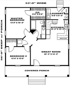 only I'd like a door through the closet to the laundry - otherwise you have to carry the laundry all the way around. two bedroom house plans 2 Bedroom House Plans, Cottage House Plans, Tiny House Plans, Cottage Homes, House Floor Plans, Small House Plans Under 1000 Sq Ft, Tiny Home Floor Plans, Two Bedroom Tiny House, Small Cottage Plans
