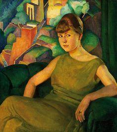 Harold Bengen - Madonna im Grünen (Frauenporträt), 1925