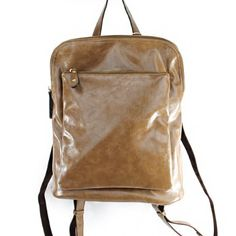 Click Here and Buy it On Amazon.com $52.99 Amazon.com: Designer Inspired Unisex Unique Zipper Pocket Embellishment Texture Glazed Faux Leather Fashion Solid Tote Satchel Crossbody Backpack in Taupe Brown: Clothing