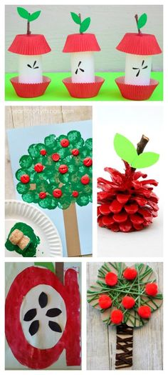 30 APPLE CRAFTS & ACTIVITIES FOR KIDS - I can\'t wait to try the apple volcano!! #craftsforkids #applecrafts