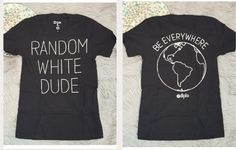 """Mens """"Random White Dude"""" Black Quote Graphic Tee T-Shirt Size Small New #28   Clothing, Shoes & Accessories, Men's Clothing, T-Shirts   eBay!"""