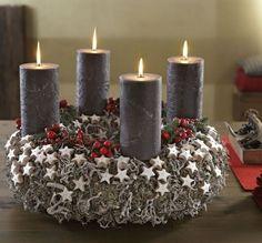 türkranz weihnachten plätzchen kerzen