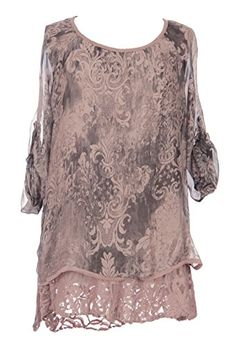 Ladies Womens Italian Lagenlook Quirky Layer Slit Back Lace Hem Printed Silk Tunic Dress One Size Plus (UK 10-20) (One Size Plus, Pink) Generic http://www.amazon.co.uk/dp/B00RLRHOA4/ref=cm_sw_r_pi_dp_ikPQub173GFZX