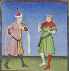 Publius Terencius Afer, Comoediae [comédies de Térence] ca. 1411; Bibliothèque de l'Arsenal, Ms-664 réserve, 63v