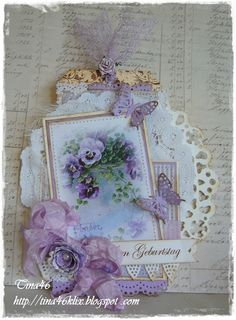 Wow this one is so beautiful done with the various shades of purple.  Layer upon layer of awesome details.