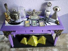 Egyptian Tarot  table altar by lotusfairy on Etsy, $40.00
