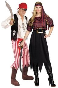 Couples Pirate Fancy Dress Costumes