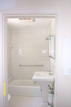 Image of: Subway Tile Bathroom Ideas White