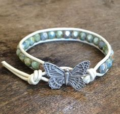 Butterfly Dreams Single Leather Wrap Bracelet, via Etsy.