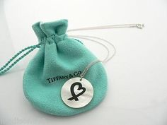 Tiffany & Co Silver Picasso Heart Mother of Pearl Necklace Pendant Chain Rare