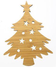 Wanddeko Weihnachtsbaum aus Bambus