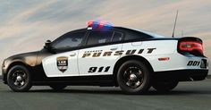 The 2014 Dodge Charger Pursuit police car - click for link to Chrysler's official fleet website for Police vehicle information.