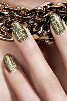 Dior Crocodile Nails - Golden Jungle Nail Polish (Vogue.com UK)