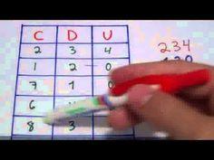 Aprendamos a descomponer números/Unidades, Decenas y Centenas/Matemáticas 3º Primaria (8 año... - YouTube