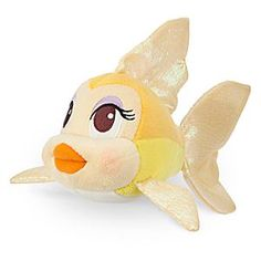 Disney Cleo Plush - Mini Bean Bag - 8'' | Disney StoreCleo Plush - Mini Bean Bag - 8'' - Geppetto's flirty ''little mermaid'' Cleo the goldfish swims into our <i>Pinocchio</i> Plush Collection as a soft stuffed Mini Bean Bag toy with glistening iridescent fins and tail. Bring her along on every adventure!