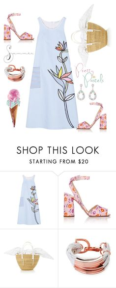 """Pretty Summer Dress"" by kikikoji ❤ liked on Polyvore featuring Mira Mikati, Prada, Saachi and Cielle London"