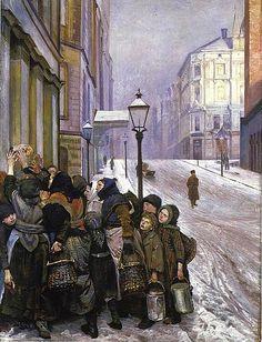 Kampen for tilværelsen 1889 -  Christian Krogh