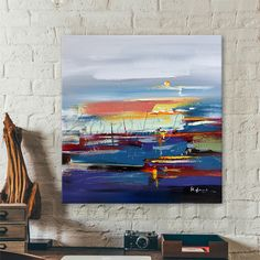 Hand painted boat Canvas Oil painting Wall Pictures for Living room wall decor art canvas painting palette knife boat seascape 2 Boat Painting, Oil Painting On Canvas, Canvas Art, Living Room Pictures, Wall Pictures, Cheap Paintings, Room Wall Decor, Palette Knife, Picture Wall
