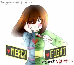 Frisk and Chara- pacifist or genocide route - Undertale